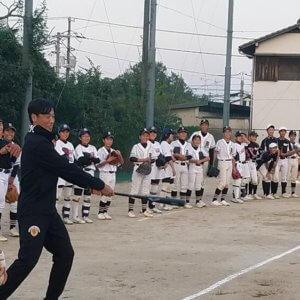 岡山県倉敷市立南中学校の野球部、ソフトボール部のみなさんに技術指導のイメージ