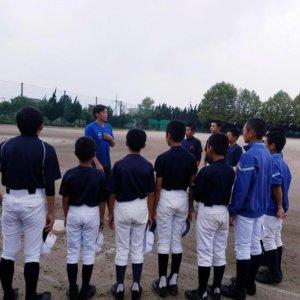 埼玉県春日部市立葛飾中学校野球部のみなさんにスポーツ技術指導のイメージ