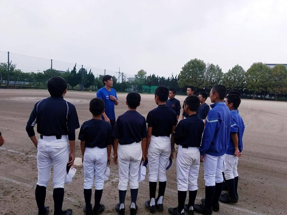 埼玉県春日部市立葛飾中学校野球部のみなさんにスポーツ技術指導